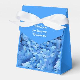 Blue Floral Bridesmaid Thank You Party Favour Box