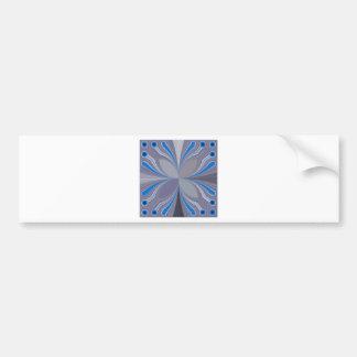 Blue Floral Bumper Sticker