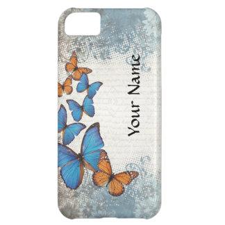 Blue floral butterflies iPhone 5C case