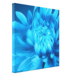 Blue floral canvas original fine-art print gallery wrap canvas