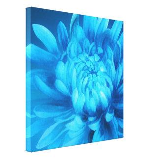 Blue floral canvas original fine-art print gallery wrap canvas