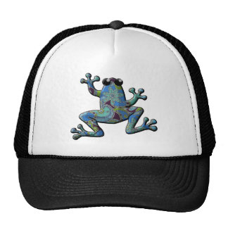 Blue Floral Climbing Frog Hats