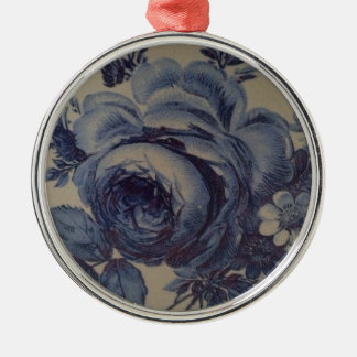 Blue Floral Christmas Ornaments