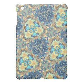 Blue Floral Digital Art Abstract iPad Mini Cover