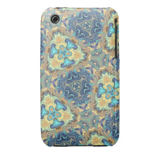 Blue Floral Digital Art Abstract iPhone 3 Covers
