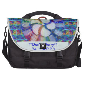 Blue Floral DREAM Editable Text replace Greeting Bag For Laptop