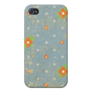 Blue Floral Grunge iPhone4 Case Cases For iPhone 4