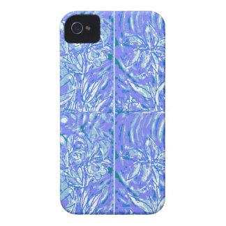 blue floral hard curved blackberry case