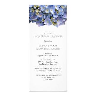 Blue Floral Jack and Jill Wedding Shower 10 Cm X 24 Cm Invitation Card