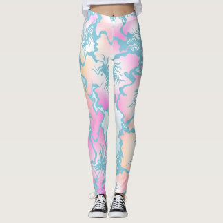 Blue Floral♥ Leggings