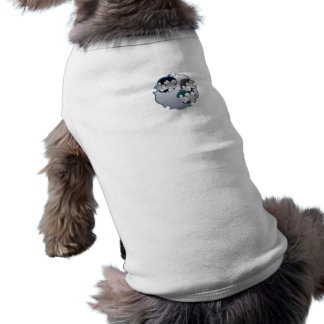 Blue Floral Medallion Dog Shirt
