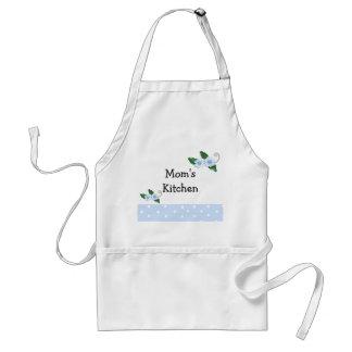 Blue Floral Mom's Kitchen Design Standard Apron