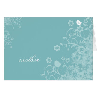 Blue floral Mother Greeting Card