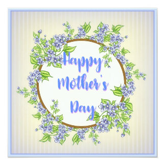 Blue Floral Mother's Day Card