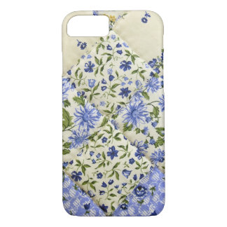 Blue Floral Patchwork Quilt iPhone 7 Case