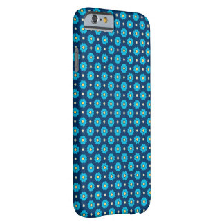 Blue Floral Pattern Barely There iPhone 6 Case