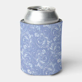 blue floral pattern can cooler