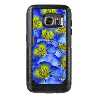 Blue Floral Pattern Metallic Case