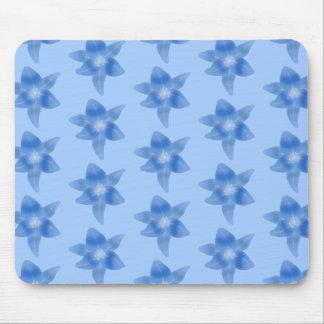 Blue Floral Pattern. Mouse Pad