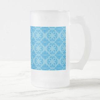 Blue Floral Pattern Mugs