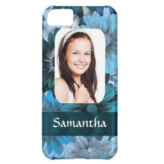 Blue floral photo template iPhone 5C case