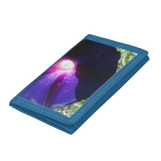 Blue Floral Photo Wallet