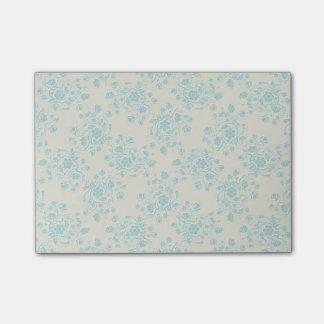 Blue floral post-it notes