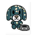 Blue floral puppy! postcard