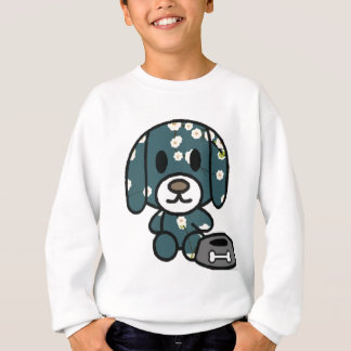 Blue floral puppy! sweatshirt