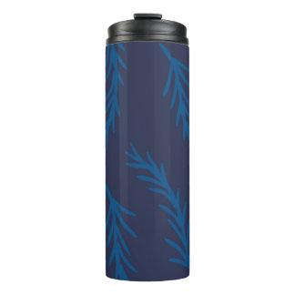 Blue Floral Thermal Tumbler