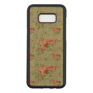 Blue Floral Vintage Girly Cute Carved Samsung Galaxy S8+ Case