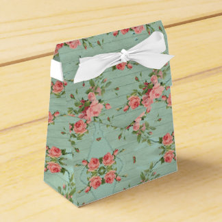 Blue Floral Vintage Girly Cute Wedding Favor Box