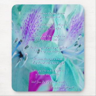 Blue Floral Will You Be My Bridesmaid Mousepads