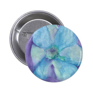 Blue Flower 6 Cm Round Badge