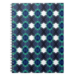 Blue Flower Abstract Notebook