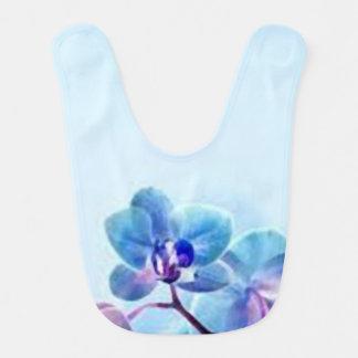 Blue Flower_babero Baby Bib