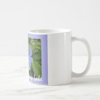 Blue Flower Basic White Mug