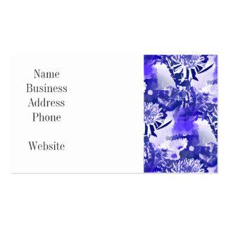 Blue Flower Bouquet in Vase Floral Print Pack Of Standard Business Cards
