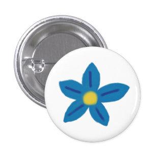 Blue Flower Button