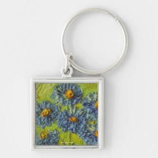 Blue Flower Cluster Key Chain