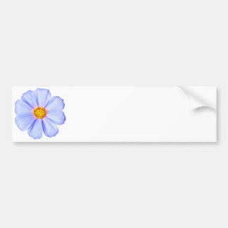 Blue Flower - Customized Cosmos Daisies Template Bumper Sticker