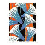 Blue Flower Deco Postcard
