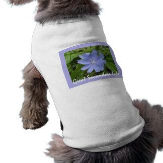 Blue Flower Dog Tshirt