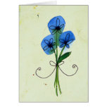 blue flower doodle cards