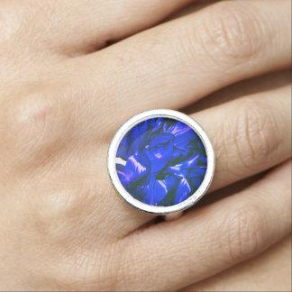 Blue Flower Fashion Ring