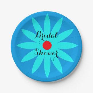 Blue Flower Floral Patterns Bridal Shower Cool 7 Inch Paper Plate