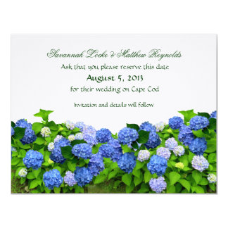 Blue Flower Garden Save the Date Cards 11 Cm X 14 Cm Invitation Card