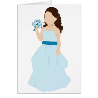 blue flower girl card