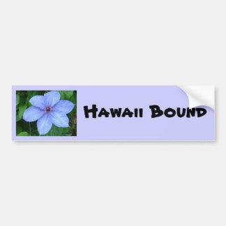 Blue flower, Hawaii Bound Bumper Sticker