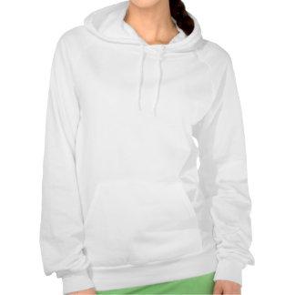 Blue Flower Hooded Sweatshirt